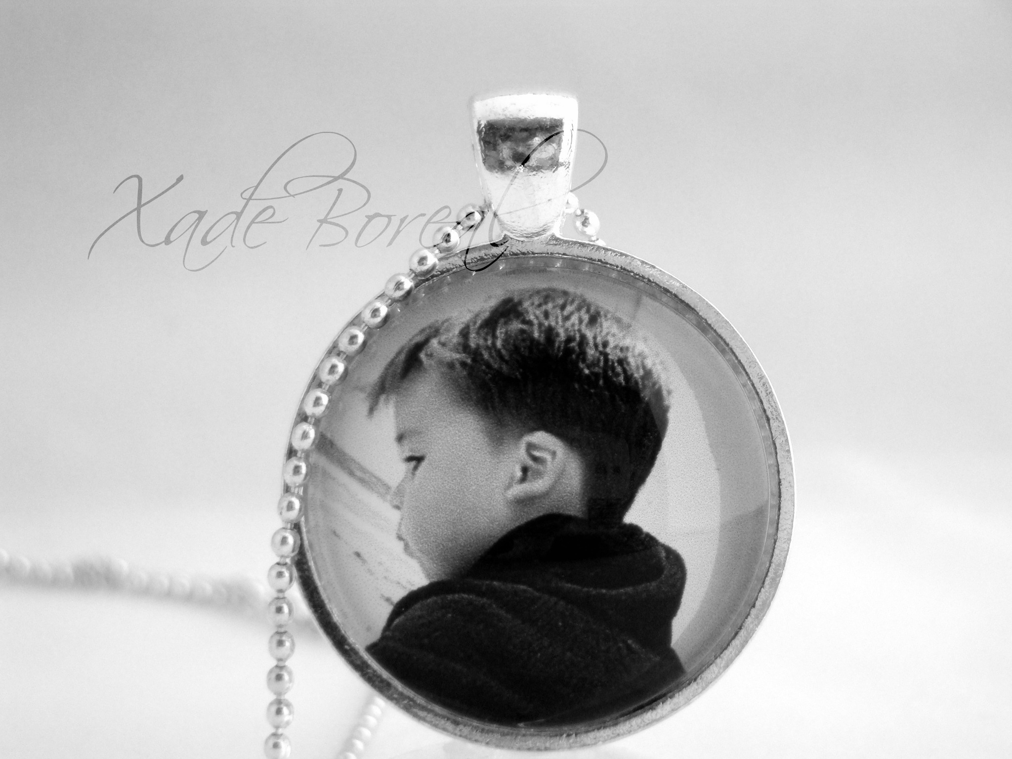 Personalized photo custom pendant necklace on luulla personalized photo custom pendant necklace aloadofball Gallery